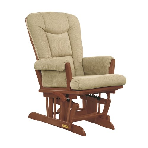 Shermag Glider Rocker Chablish Finish with Biscuit Cushion