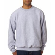 7788 Adult Cross Weave Crew Neck Sweatshirt - Heather, Small