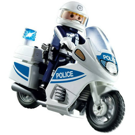 Playmobil Police Motorcycle with Light