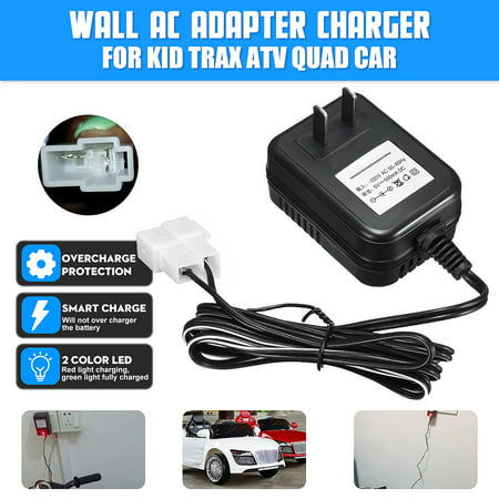 500ma 6V AC/DC Adapter Power Supply Wall Charger For Kid TRAX ATV Quad Ride On Car Battery Powered Square covid 19 (Dc Peak Power Charger coronavirus)