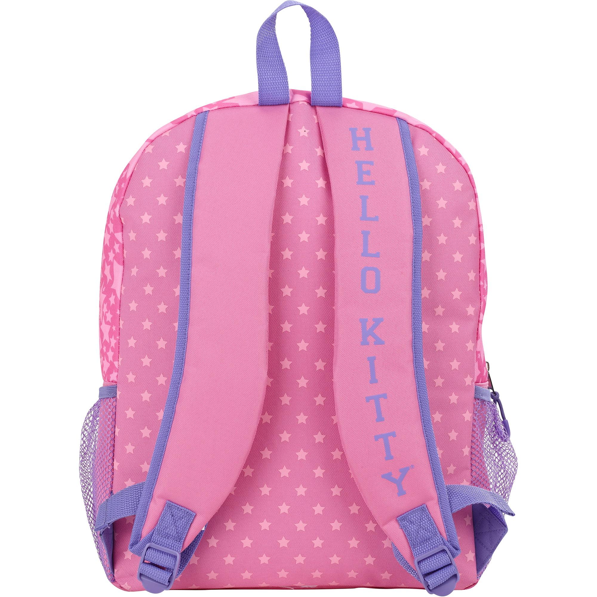 "Hello Kitty Pink Star Cheerleader 16"" Backpack"