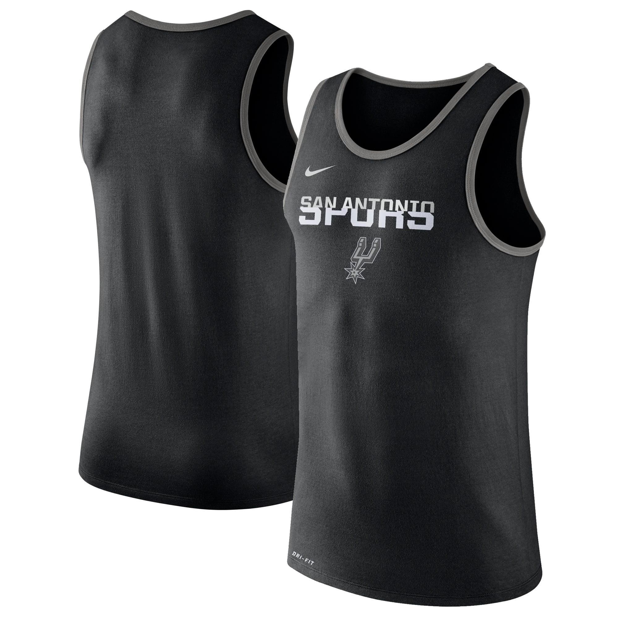 San Antonio Spurs Nike Logo Performance Tank Top - Black