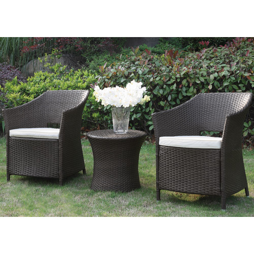 A&J Homes Studio 3 Piece Bistro Set with Cushions by