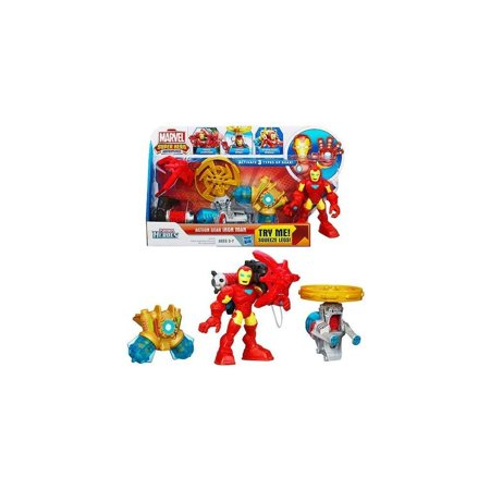 Playskool Heroes Marvel Super Hero Adventures Action Gear Iron Man Figure