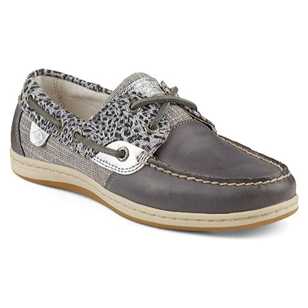 Sperry Top-Sider Koifish Womens Cheetah Taupe Boat Shoes