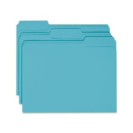 Colored File Folder - Smead 13143 Teal Colored File Folders SMD13143