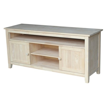 Unfinished Wood Tv Stand - International Concepts Tv-51 TV Stand with 2 Doors, Ready To Finish