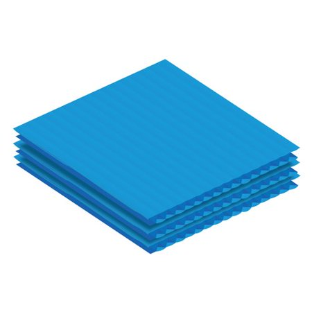 Adiroffice Corrugated Plastic Sheet Set Of 24 Walmart Com