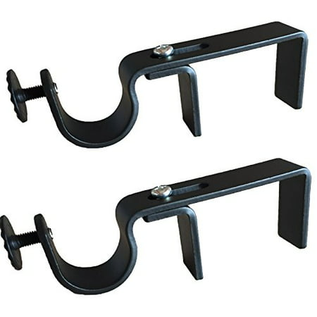 - NoNo Bracket - Outside Mounted Blinds Curtain Rod Bracket Attachment (Black)