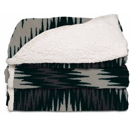 Sunbeam Electric Heated Sherpa Microplush Throw Blanket