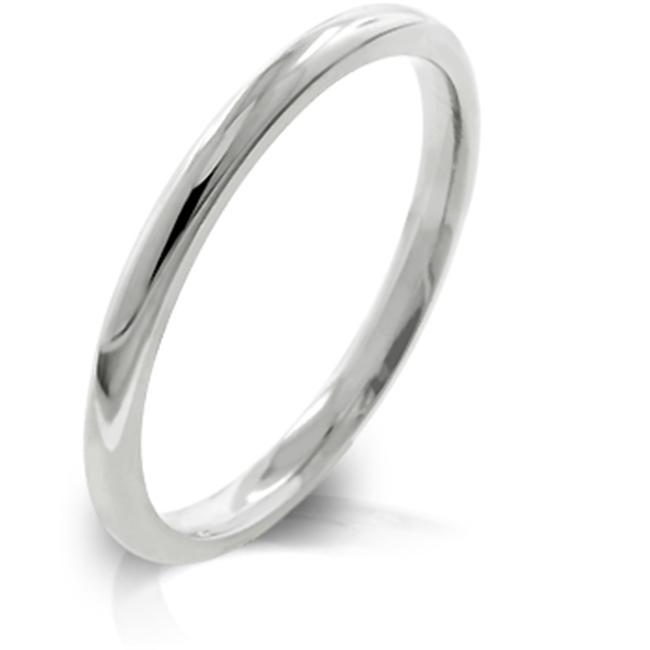 Kate Bissett R08037RV-V00-07 2mm High Polished Stainless Steel Eternity Wedding Band