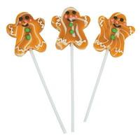 Fun Express - Gingerbread Swirl Pop for Christmas - Edibles - Sucker & Pop - Swirl & Twist Pops - Christmas - 12 Pieces