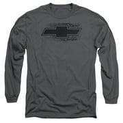 Chevrolet/Bowtie Burnout Mens Long Sleeve Shirt