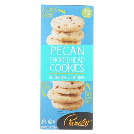 Pamela's Products - Pecan Shortbread Cookies - Gluten-free - Case Of 6 - 6.25 (Best Bake Sale Cookies)