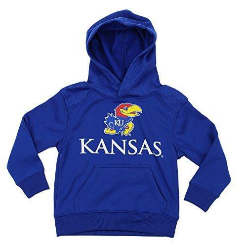 NCAA Kids Kansas Jayhawks Performance Hoodie, Blue