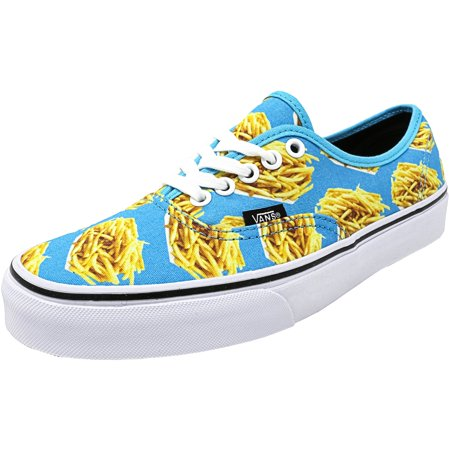 5b5654e945 Vans - Vans Authentic Late Night Blue Atoll   Fries Ankle-High Canvas  Skateboarding Shoe - 10.5M 9M - Walmart.com