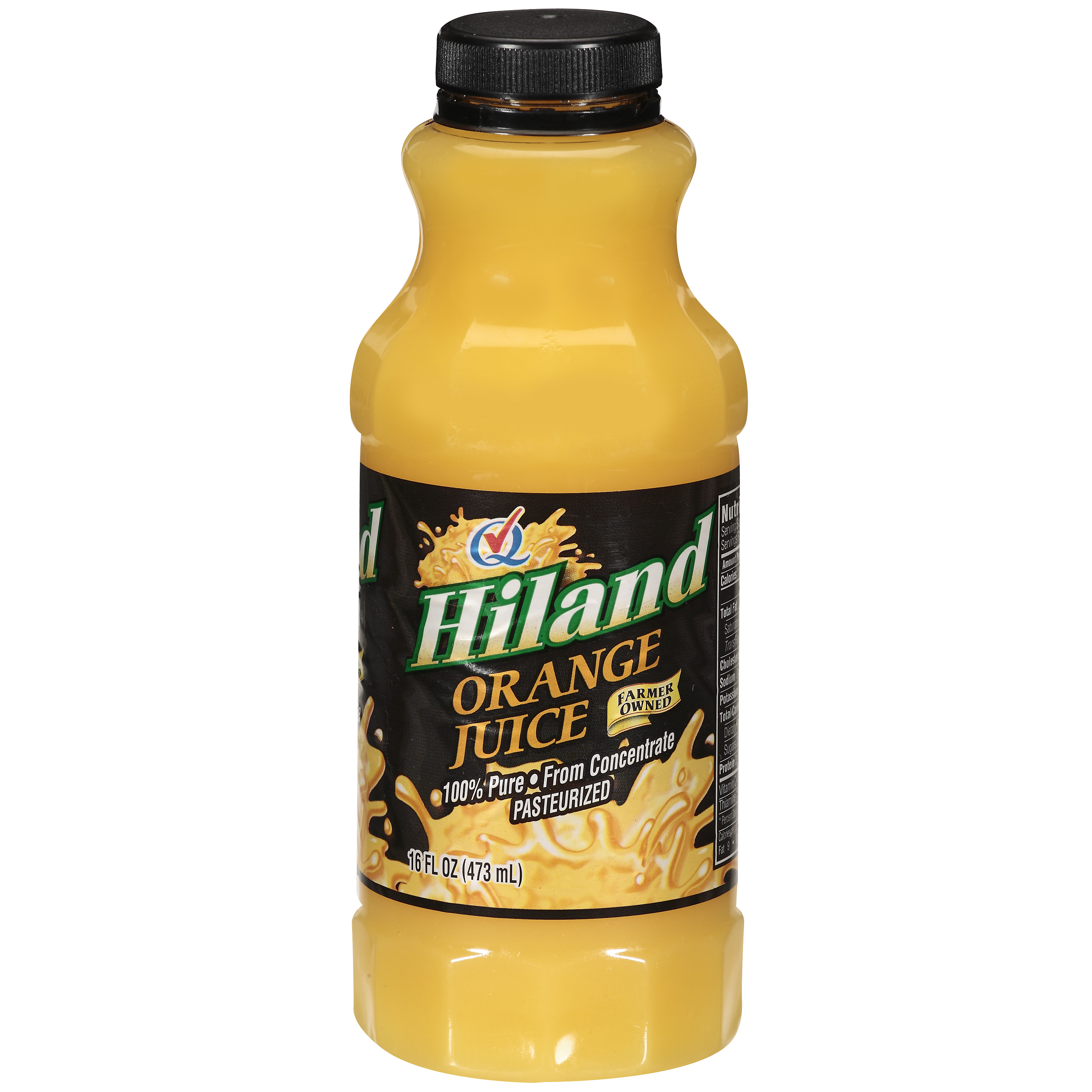 Hiland Orange Juice, 16 oz