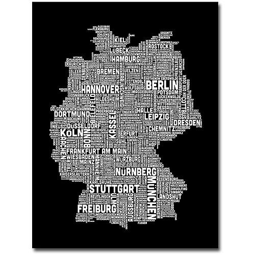 "Trademark Art ""Germany II"" Canvas Wall Art by Michael Tompsett"