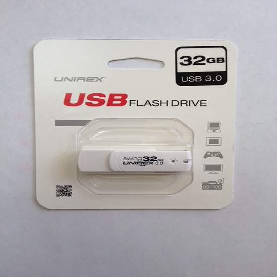 Unirex 32GB WHITE COLOR USB 3.0 Flash Drive USFW-332S