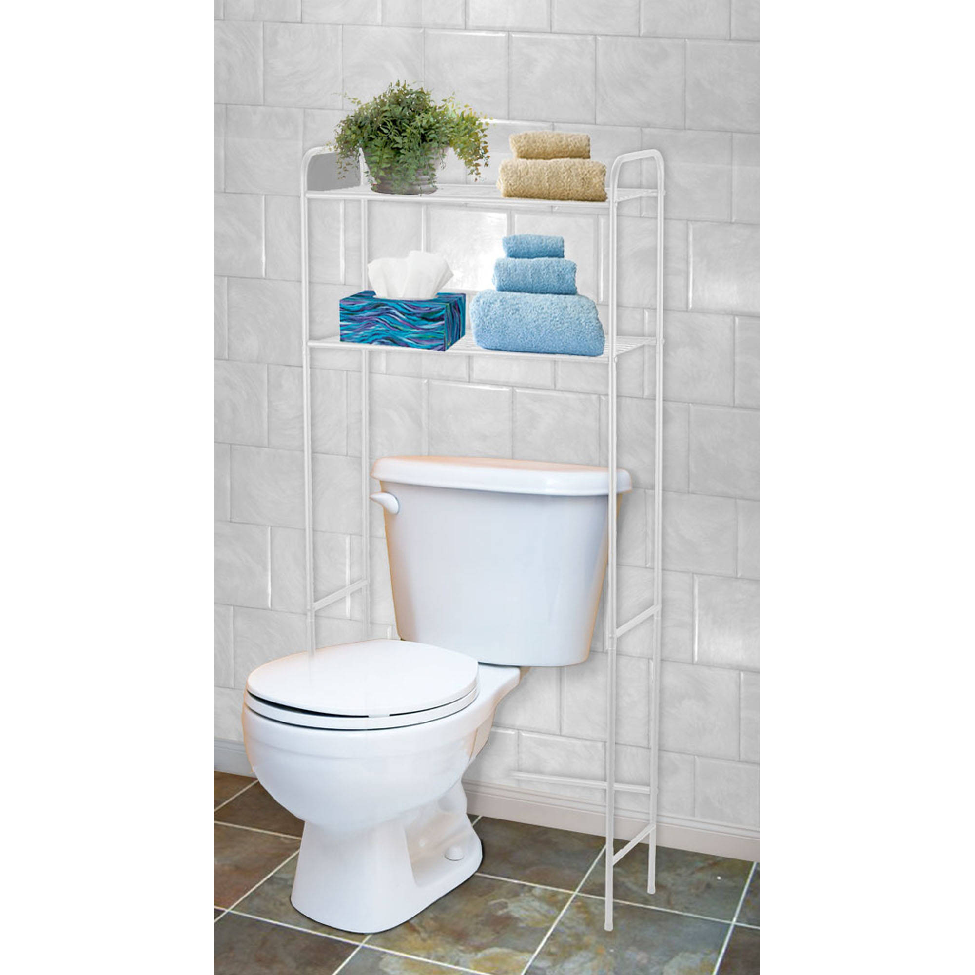 Home Basics 2-Shelf Bathroom Space Saver