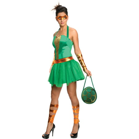 Womens Teenage Mutant Ninja Turtles Michelangelo Dress Costume (Ninja Turtle Dress Up)