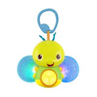 Bright Starts Beaming Buggie Take-Along Toy with Lights, Ages Newborn +