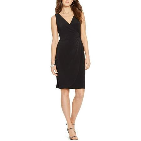 AMERICAN LIVING $79 NEW 12350 Faux-Wrap Surplice Jersey Womens Dress (Surplice Matte Jersey Dress)