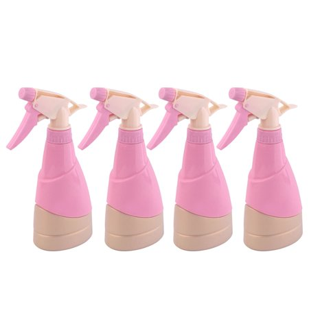Garden Plastic Hair Tree Flower Water Trigger Spray Bottle Pink 300ml 4pcs