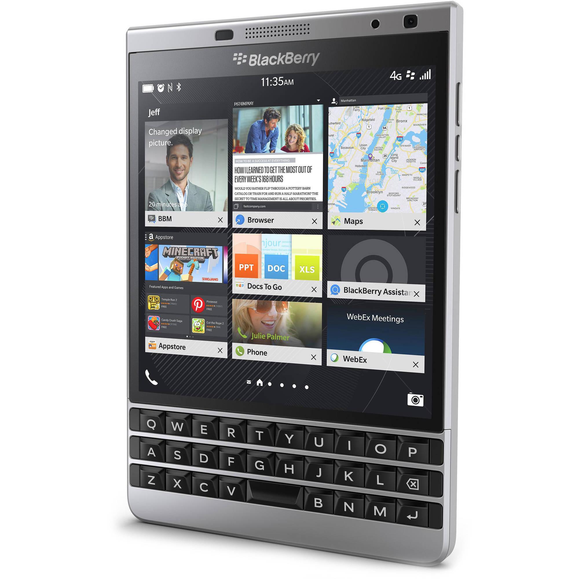 BlackBerry Passport SQW100-4 GSM Smartphone (Unlocked), Silver