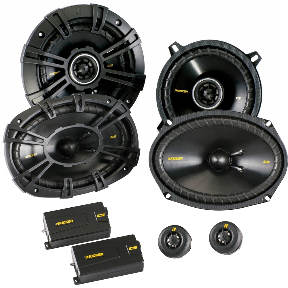 "Kicker for Dodge Ram Truck 1994-2011 speaker bundle - CS 6x9"" component speakers, and CS 5.25"" coaxial speakers."