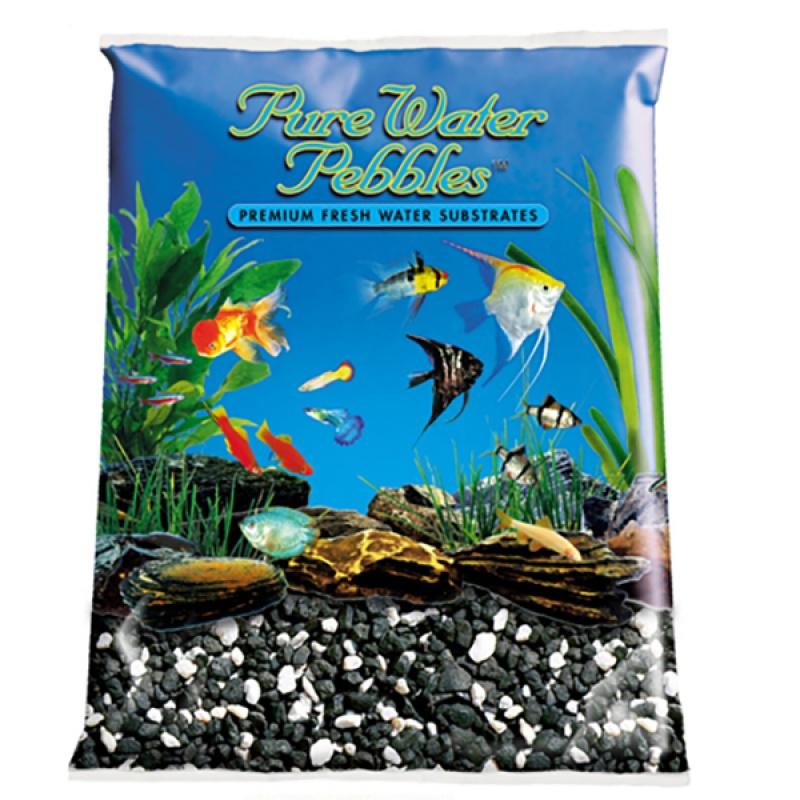 Pure Water Pebbles Aquarium Gravel Salt and Pepper Premium Natural Substrates 5 lbs