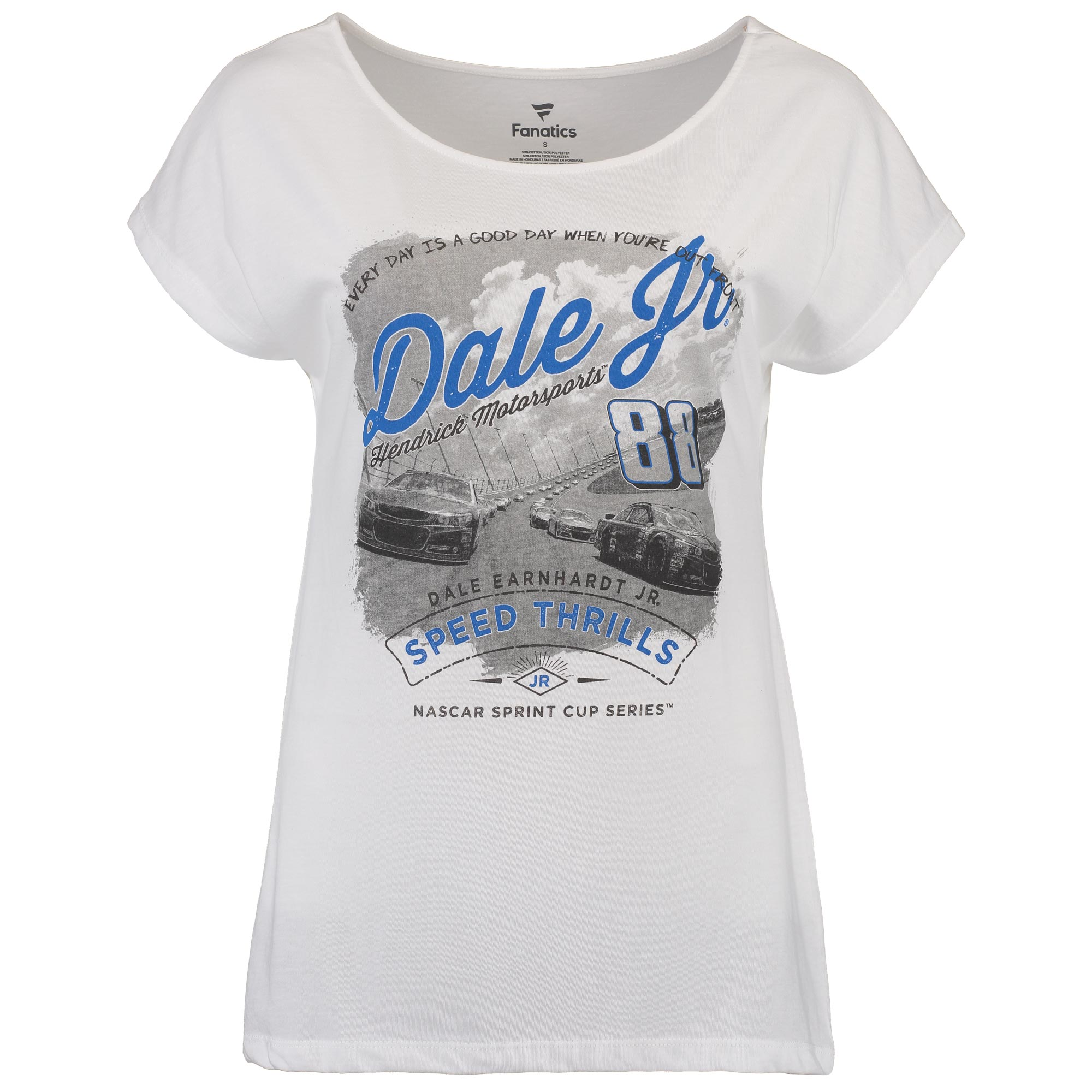 Dale Earnhardt Jr. Women's Draped T-Shirt - White