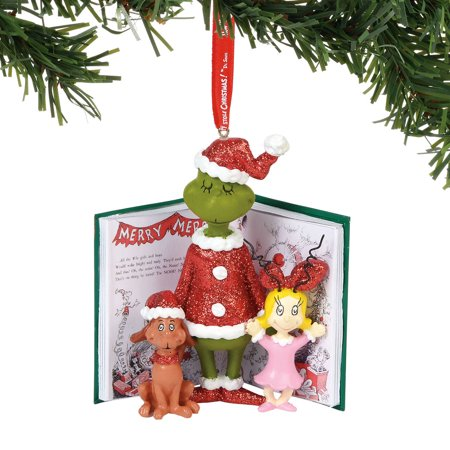 Department 56 The Grinch 6000301 Grinch, Cindy, And Max Ornament 2018](Grinch Christmas Decoration)