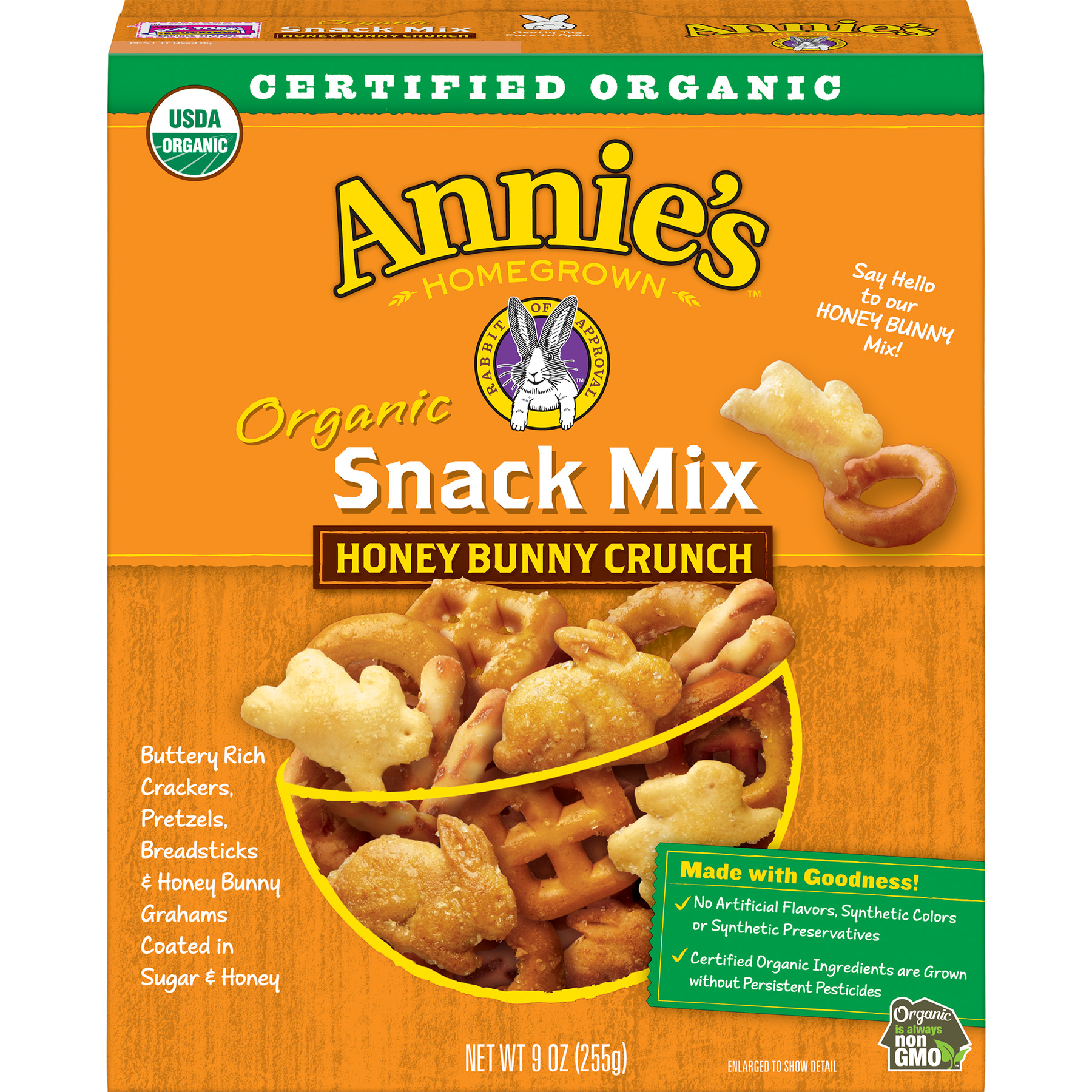 Annie's Honey Bunny Crunch Organic Snack Mix, 9 oz