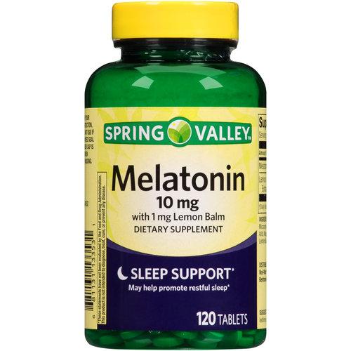 Spring Valley Melatonin Dietary Supplement, 10mg, 120 count