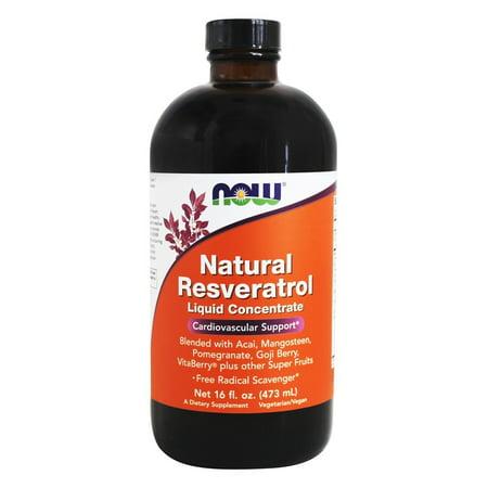 (NOW Foods - Natural Resveratrol Liquid Concentrate Mega Potency - 16 oz.)