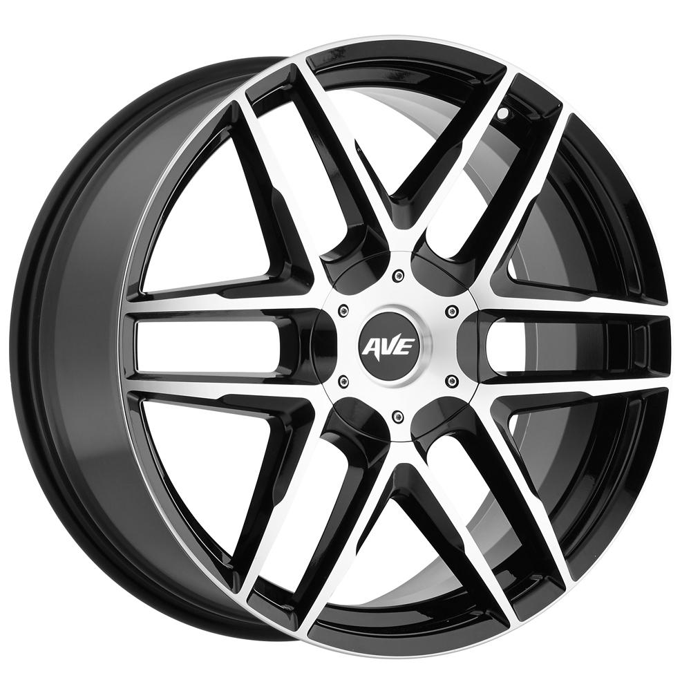 "17"" Inch Avenue A613 17x7.5 5x114.3/5x120 +40mm Black/Machined Wheel Rim"