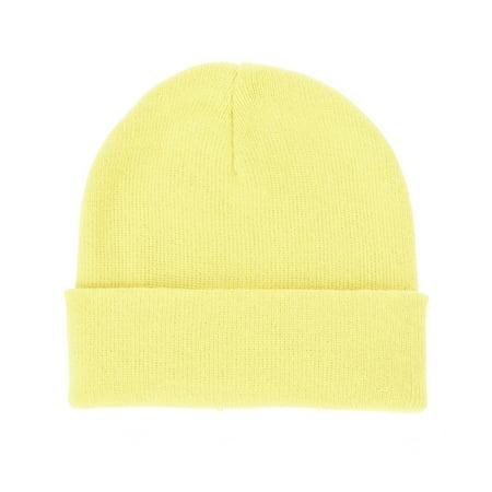 2c4b0eaf72d WITHMOONS - WITHMOONS Infant Baby Plain Winter Beanie Hat Toddler Skull Cap  CCJ875 (Yellow) - Walmart.com