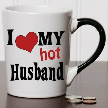 New Morning Imports 20 oz I Love My Hot Husband Stoneware Coffee Mug