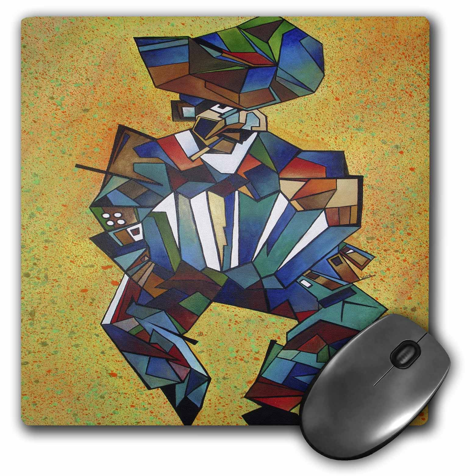 3dRose The Accordian Player - accordion, blue, concertina, cubism, latin america, melodeon,