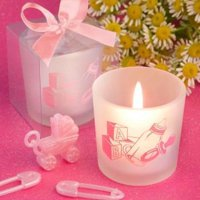 Favor Saver Collection Baby Girl Themed Candle Favors  pack of 29
