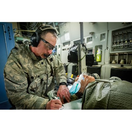 LAMINATED POSTER U.S. Air Force Lt. Col. David Kwiatkowski, nurse anesthetist, 86th Medical Group, Ramstein Air Base, Poster Print 24 x (45th Medical Group Patrick Air Force Base Fl)