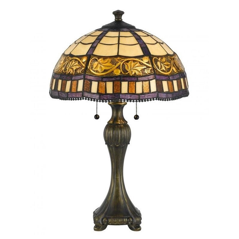 Cal Lighting Metal Table Lamp in Antique Brass
