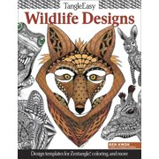 Tangleeasy: Tangleeasy Wildlife Designs: Design Templates for Zentangle(r), Coloring, and More (Paperback)