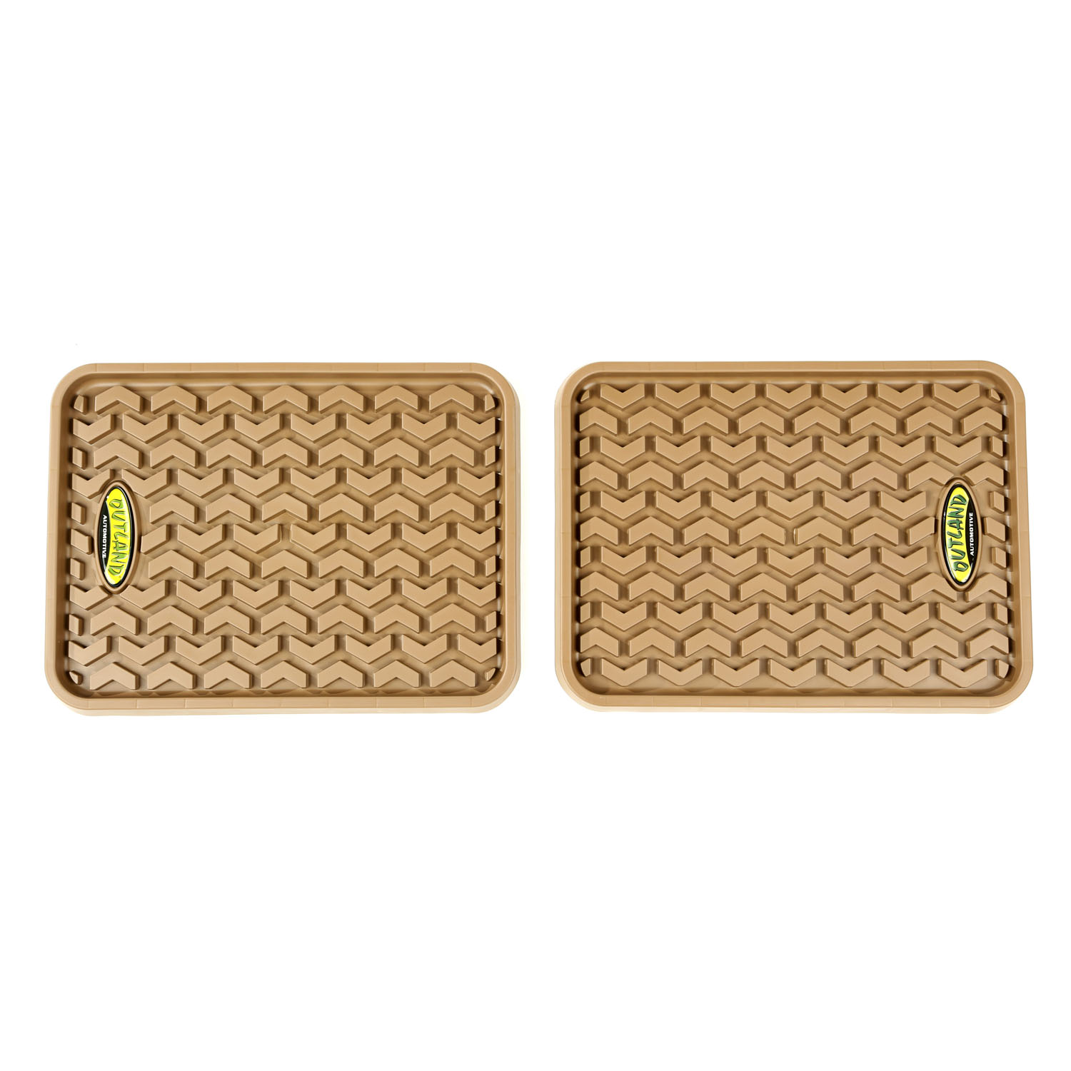Outland Automotive 398395001 Rear Tan Floor Liners