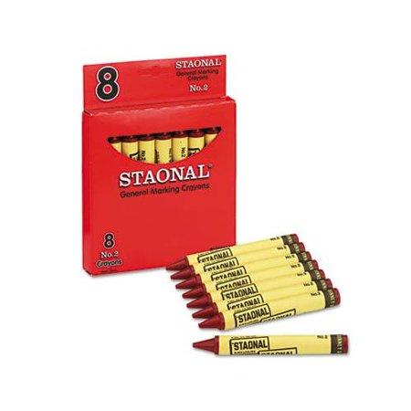 Staonal Marking Crayons, Red, 8