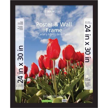 24 X 30 Black Wood - Mainstays 24x30 Wide Gallery Poster and Picture Frame, Black