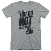 Fight Club Dramatic Action Movie Rule #1 Do Not Talk Adult Tri-Blend T-Shirt