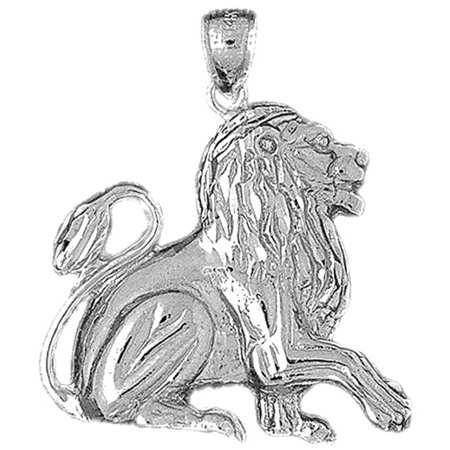 14k white gold lion pendant 35 mm walmart 14k white gold lion pendant 35 mm aloadofball Choice Image