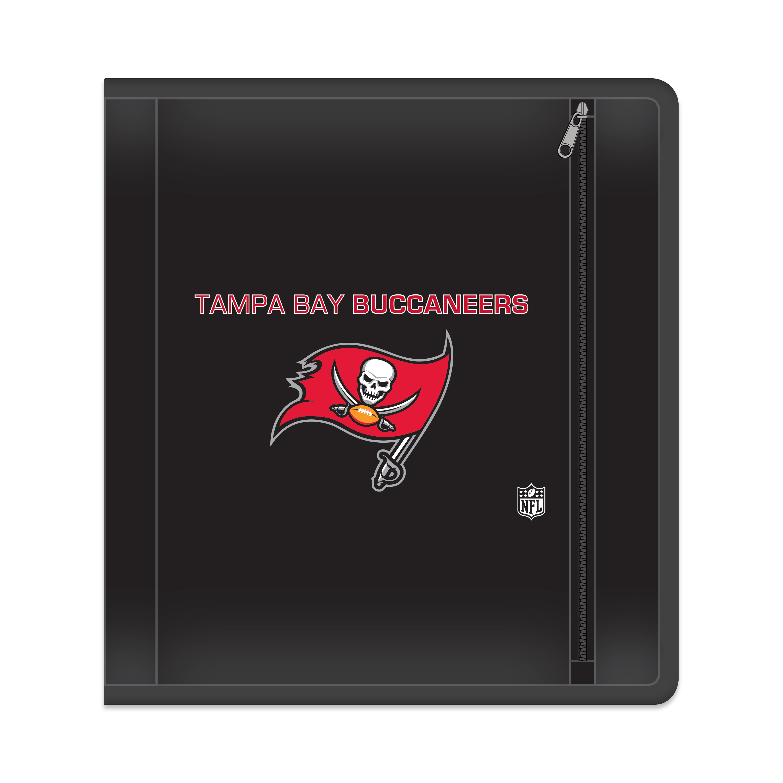 "NFL Tampa Bay Buccaneers Zippered 3 Ring Binder, 250 Sheet Capacity, 1.625"" Metal Rings"